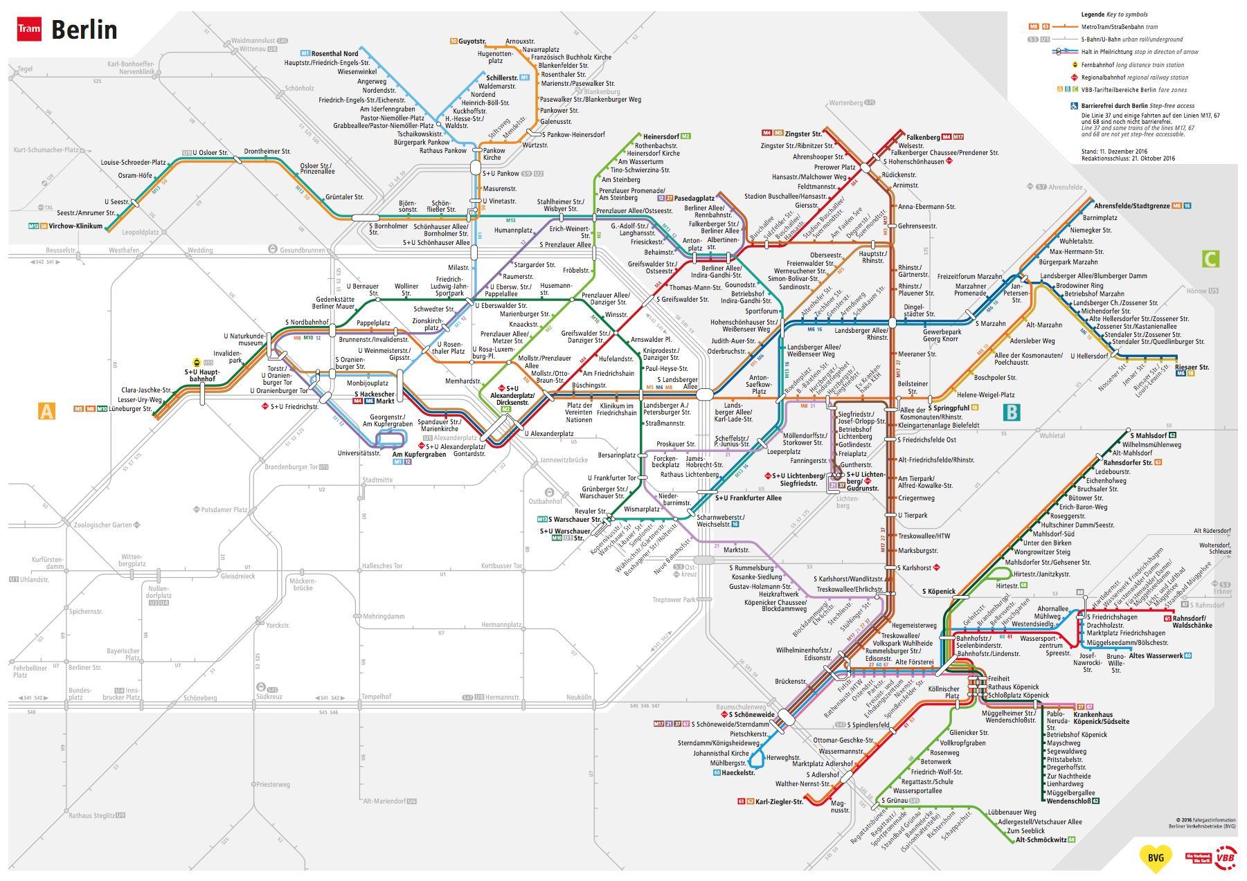 bvg karte Bvg Straßenbahn map   Bvg Routenplaner (Deutschland) bvg karte