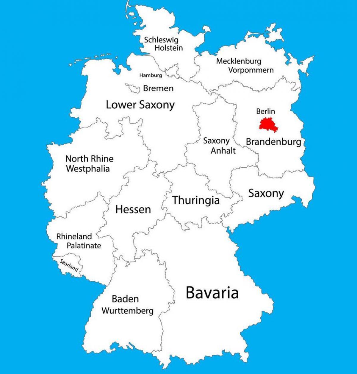 Karte Bamberg Landkarte.Berlin Deutschland Landkarte Karte Von Deutschland Zeigt