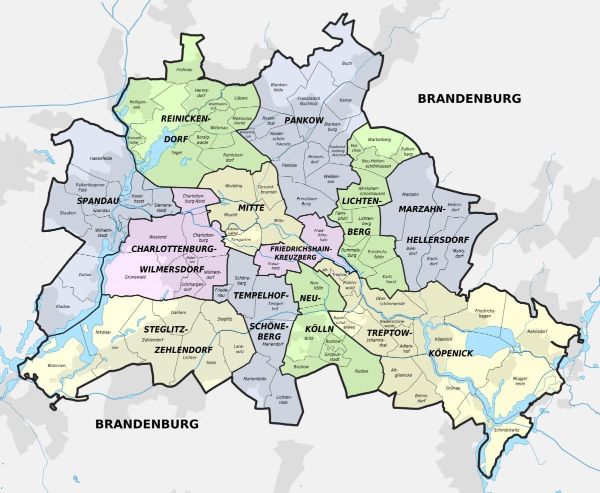 Karte Anzeigen.Berlin Auf Der Landkarte Eine Karte Von Berlin Deutschland