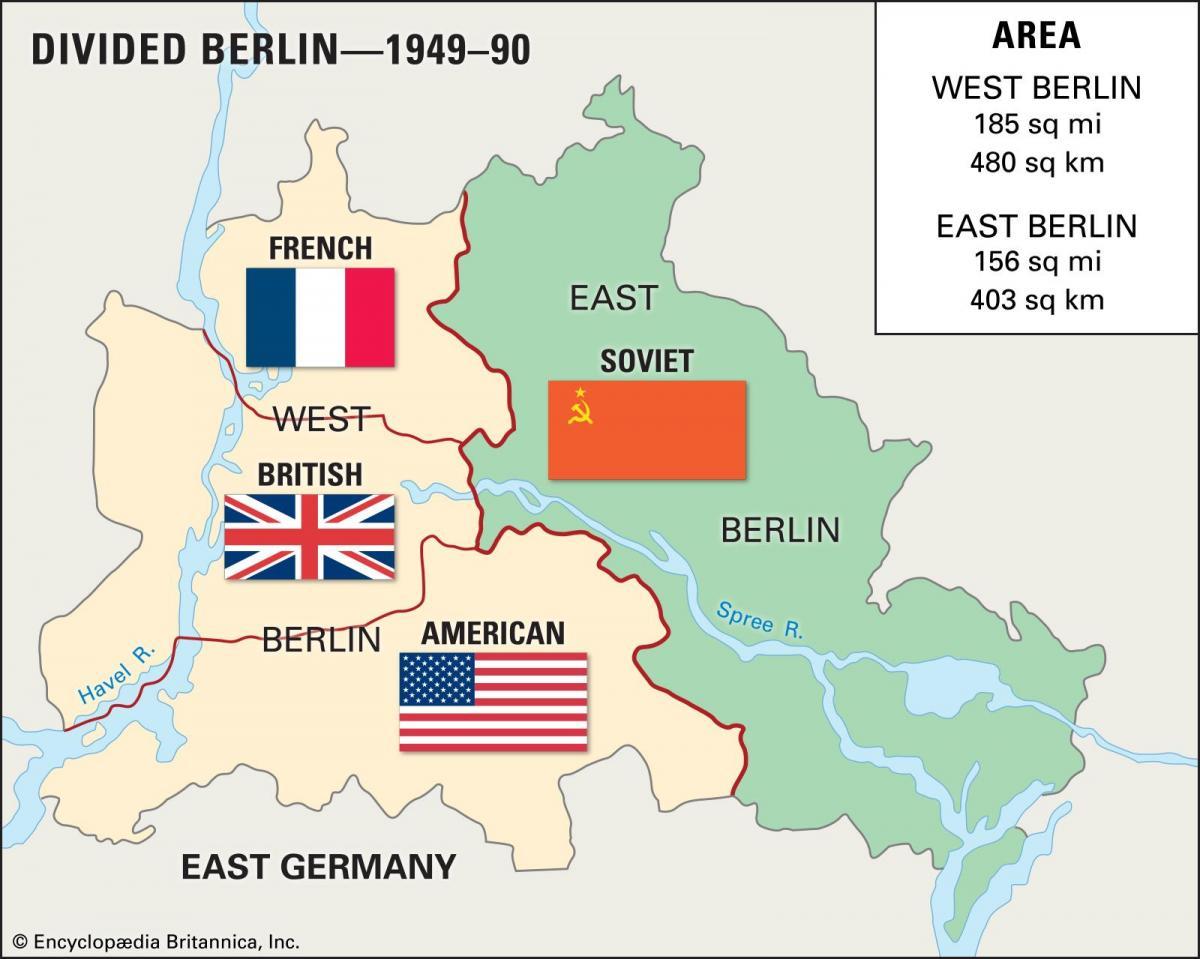 Ost Berliner West Berliner Stadtplan Karte Von Ost Berlin West