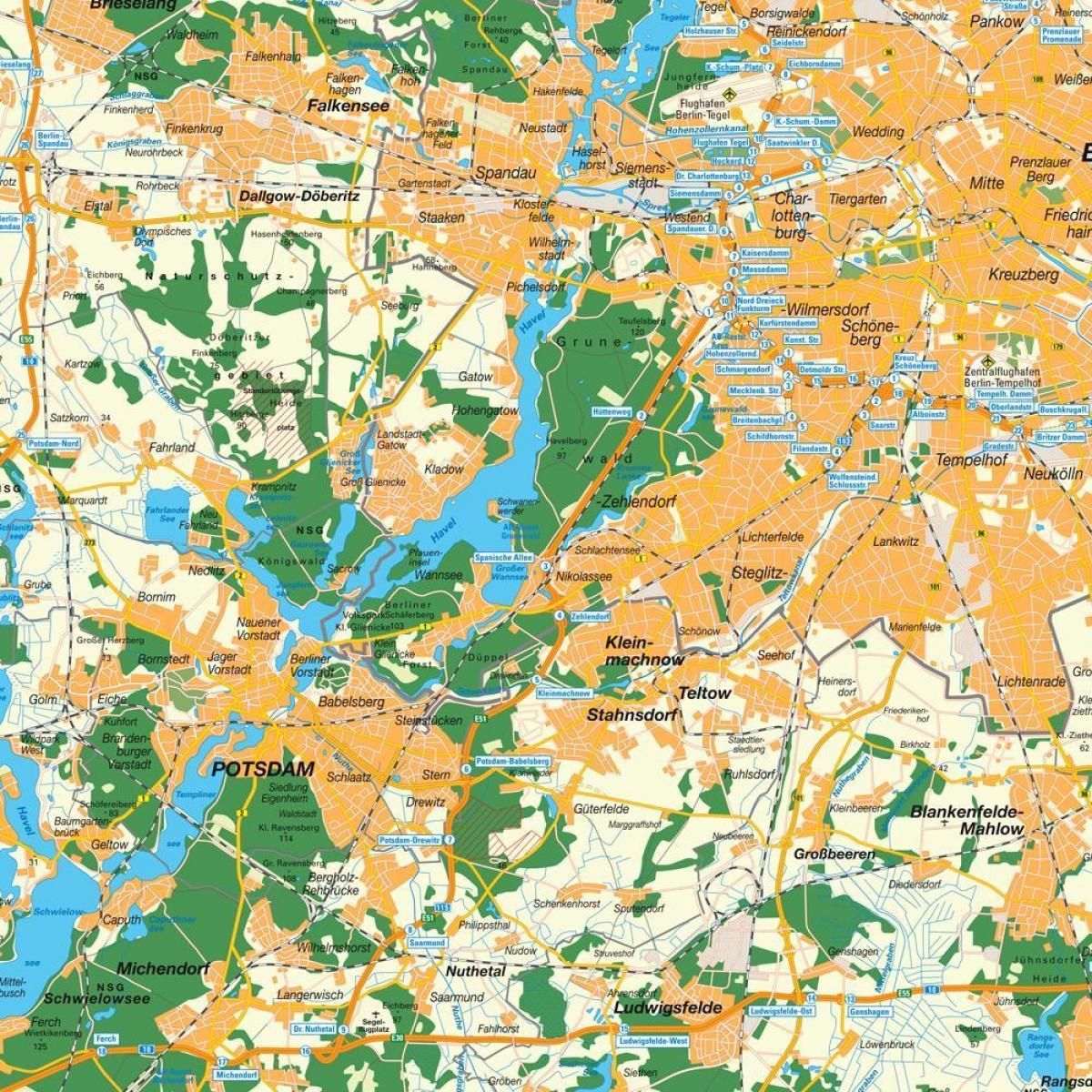 Berlin Potsdam Karte.Potsdam Berliner Stadtplan Karte Von Potsdam Berlin Deutschland